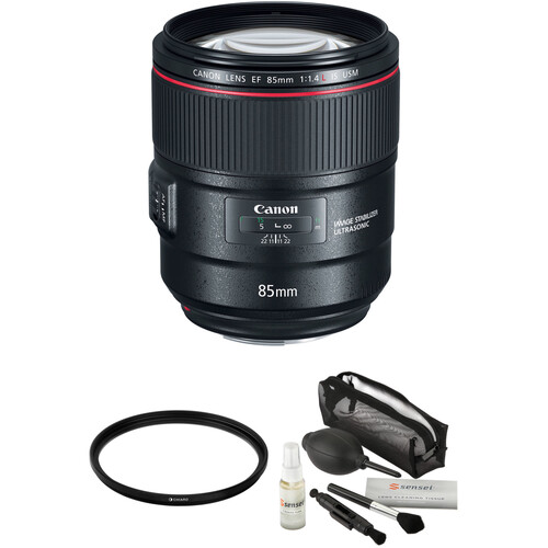 Canon EF 85mm f/1.4L IS USM Lens with Accessories Kit