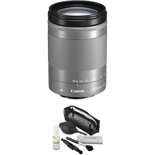 Canon EF-M 18-150mm f/3.5-6.3 IS STM Lens with Circular Polarizer Filter Kit (Silver)