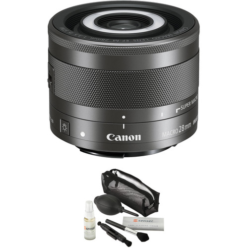 Canon EF-M 28mm f/3.5 Macro IS STM Lens with UV Filter Kit