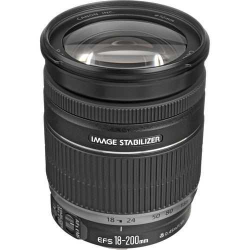 Canon EF-S 18-200mm f/3.5-5.6 IS Lens Solar Eclipse Kit