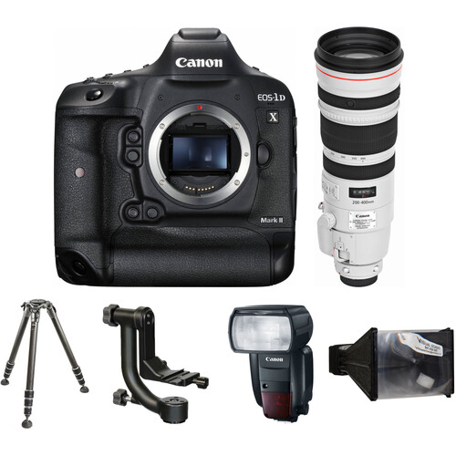 Canon EOS-1D X Mark II DSLR Camera with 200-400mm Lens Wildlife Photography Kit