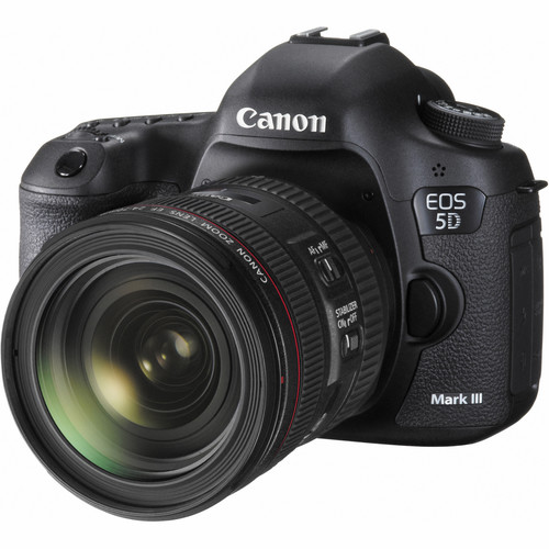 Canon EOS 5D Mark III DSLR Camera with 24-70mm f/4L IS Lens Video Production Kit