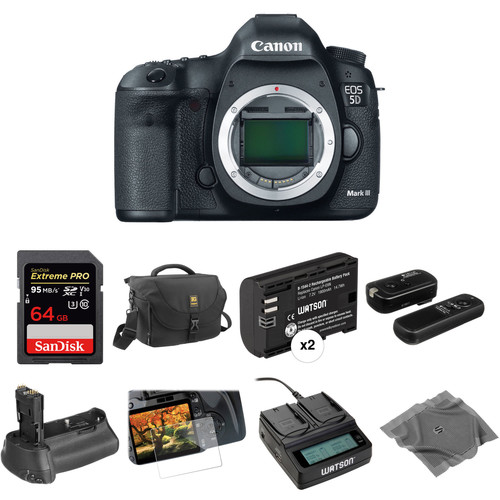 Canon EOS 5D Mark III DSLR Camera Body Deluxe Kit