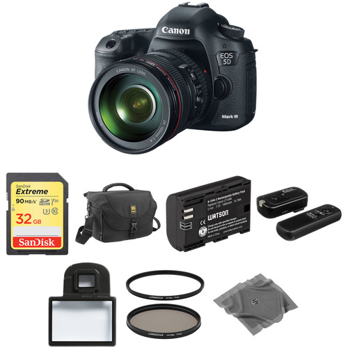 Canon EOS 5D Mark III DSLR Camera with 24-105mm f/4L Lens Basic Kit