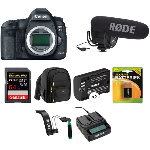 Canon EOS 5D Mark III DSLR Camera Body Video Kit