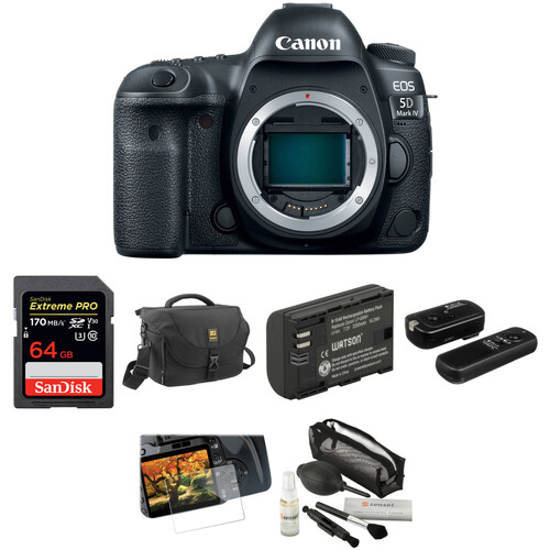 Canon EOS 5D Mark IV DSLR Camera Body Basic Kit