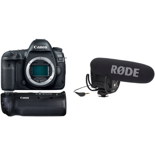 Canon EOS 5D Mark IV DSLR Camera Body with Microphone Kit