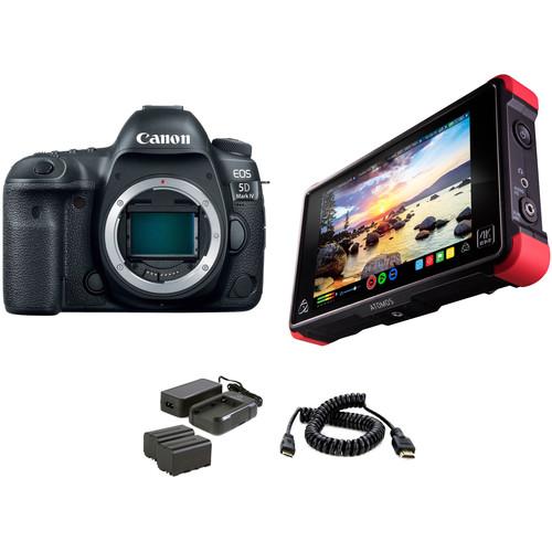 Canon EOS 5D Mark IV DSLR Camera with Filmmaker's HDR Kit