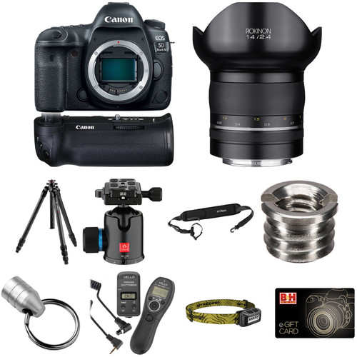 Canon EOS 5D Mark IV DSLR Camera with 14mm f/2.4 Lens Astrophotography Kit