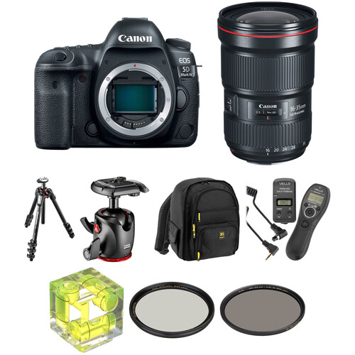 Canon EOS 5D Mark IV DSLR Camera with 16-35mm f/2.8 Lens Landscape Kit
