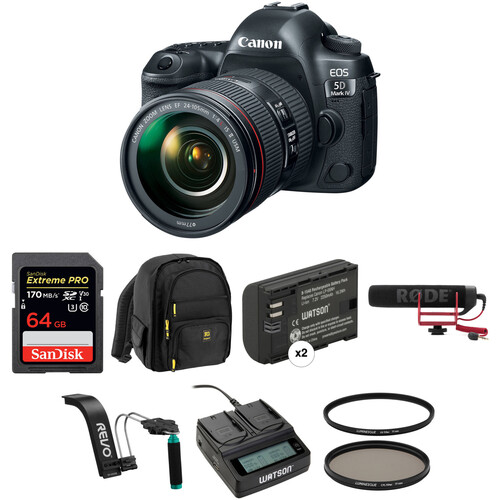 Canon EOS 5D Mark IV DSLR Camera with 24-105mm f/4L II Lens Video Kit