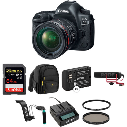 Canon EOS 5D Mark IV DSLR Camera with 24-70mm f/4L Lens Video Kit