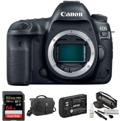 Canon EOS 5D Mark IV DSLR Camera Body with Accessory Kit
