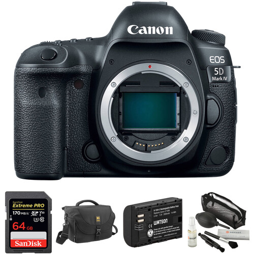 Canon EOS 5D Mark IV DSLR Camera Body with Accessory Kit