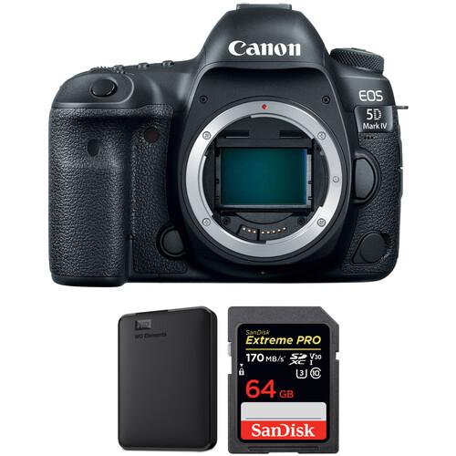 Canon EOS 5D Mark IV DSLR Camera Body and Storage Kit