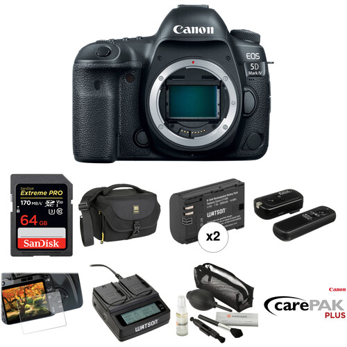 Canon EOS 5D Mark IV DSLR Camera Body Deluxe Kit