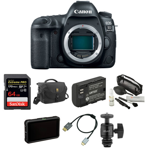 Canon EOS 5D Mark IV DSLR Camera Body with Pro Monitoring Kit