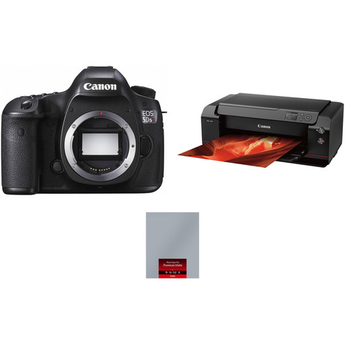 Canon EOS 5DS R Camera Body with PRO-1000 Inkjet Printer Kit