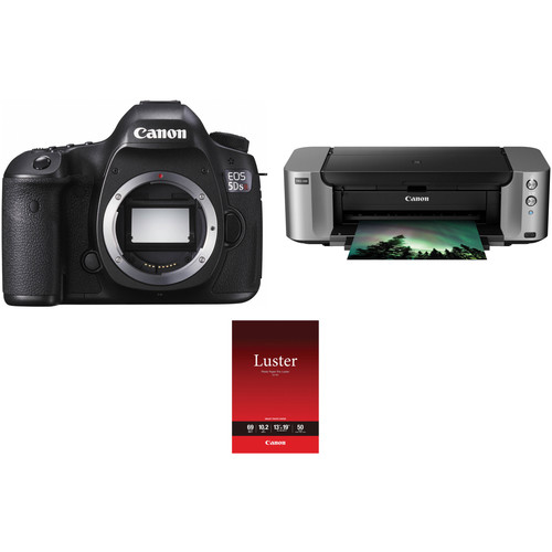 Canon EOS 5DS R DSLR Camera Body with Inkjet Printer Kit