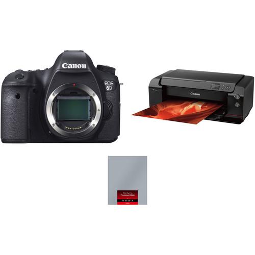 Canon EOS 6D Camera Body with PRO-1000 Inkjet Printer Kit