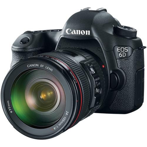 Canon EOS 6D DSLR Camera with 24-105mm f/4L Lens Basic Kit
