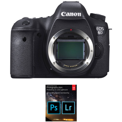 Canon EOS 6D DSLR Camera with Adobe Creative Cloud Photography Plan Kit