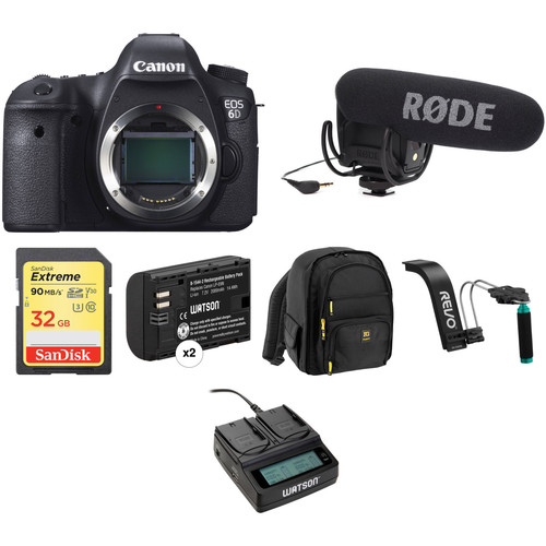 Canon EOS 6D DSLR Camera Body Video Kit
