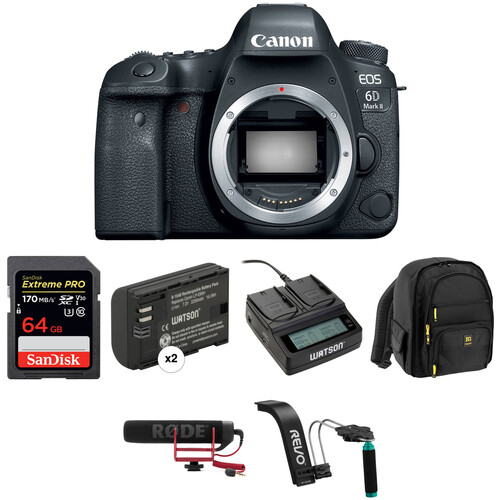 Canon EOS 6D Mark II DSLR Camera Body Video Kit
