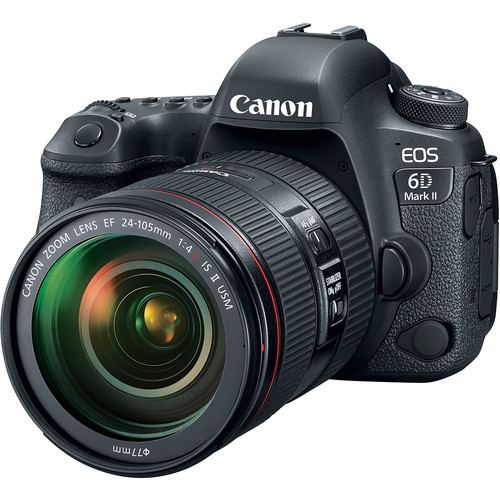 Canon EOS 6D Mark II DSLR Camera with 24-105mm f/4L II Lens