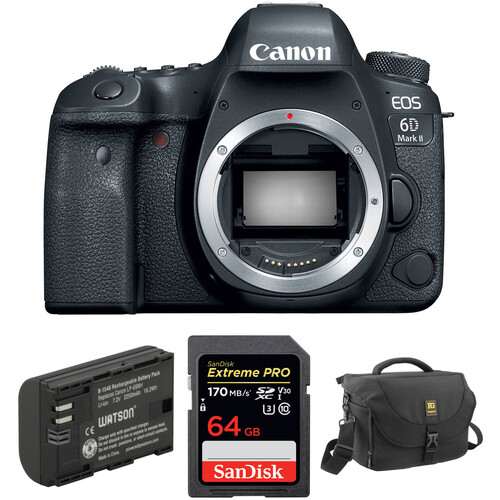 Canon EOS 6D Mark II DSLR Camera Body with Accessory Kit