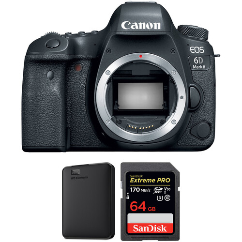 Canon EOS 6D Mark II DSLR Camera Body with Storage Kit