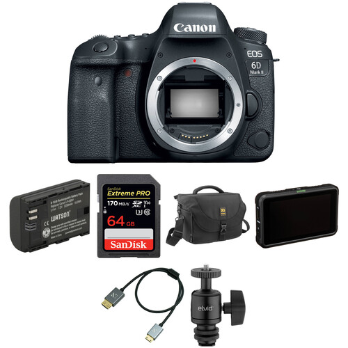 Canon EOS 6D Mark II DSLR Camera Body with Pro Monitoring Kit