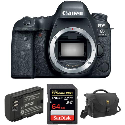 Canon EOS 6D Mark II DSLR Camera Body with Accessory Kit