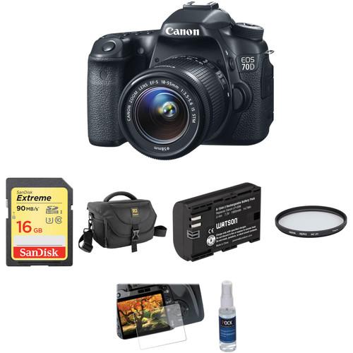 Canon EOS 70D DSLR Camera with 18-55mm f/3.5-5.6 IS STM Lens Basic Kit