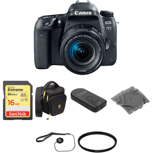 Canon EOS 77D DSLR Camera with 18-55mm Lens Basic Kit