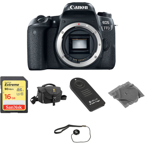 Canon EOS 77D DSLR Camera Body Basic Kit