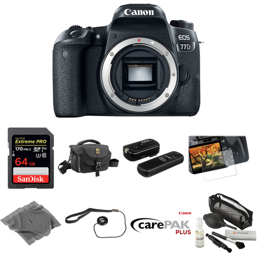 Canon EOS 77D DSLR Camera Body Deluxe Kit