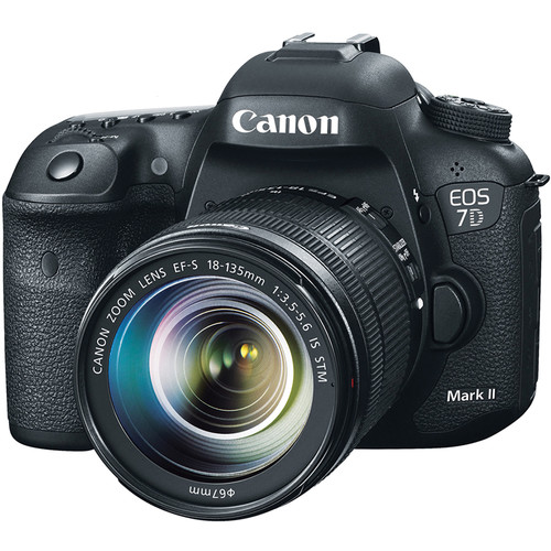 Canon EOS 7D Mark II DSLR Camera with 18-135mm Lens and Basic Photo Kit