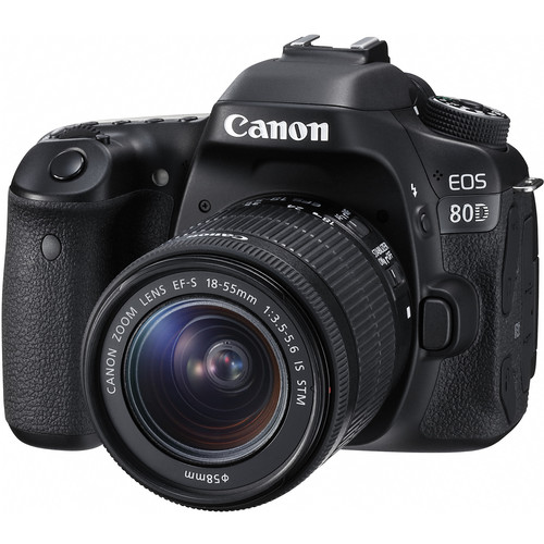 Canon EOS 80D DSLR Camera Body with 18-55mm and 55-250mm Lenses Kit