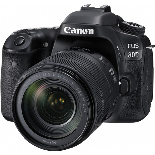 Canon EOS 80D DSLR Camera Body with 18-135mm and 55-250mm Lenses Kit