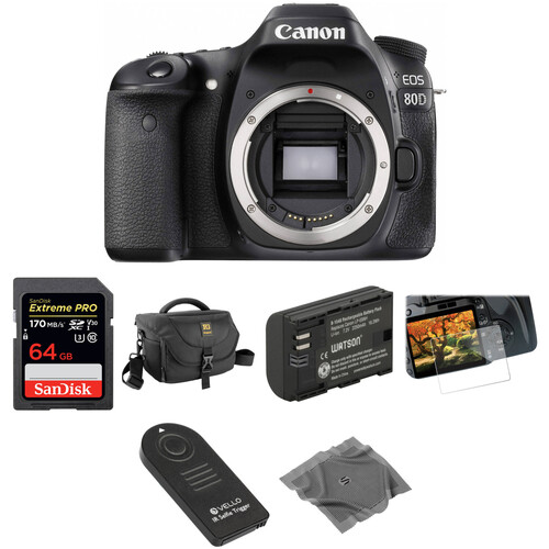 Canon EOS 80D DSLR Camera Basic Kit