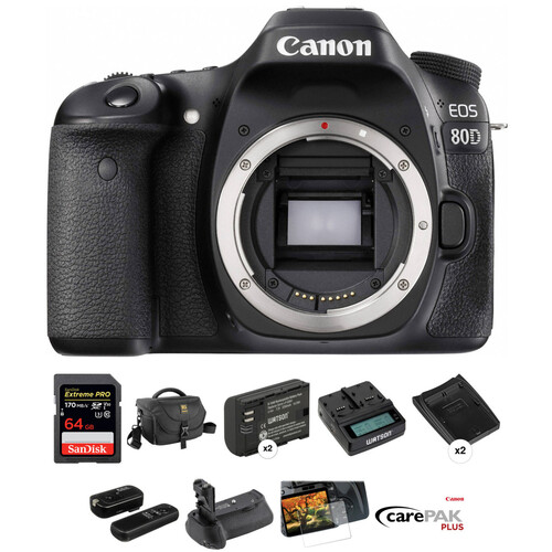 Canon EOS 80D DSLR Camera Deluxe Kit