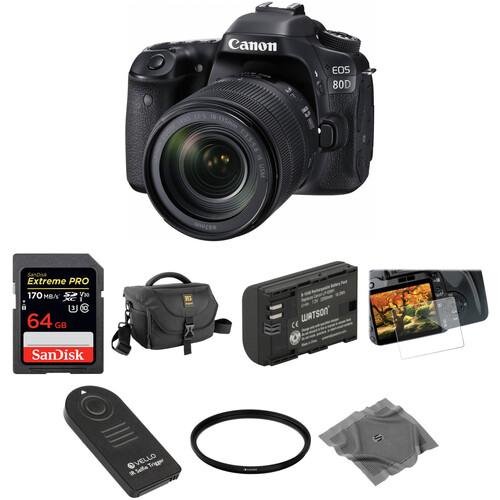 Canon EOS 80D DSLR Camera with 18-135mm Lens Basic Kit