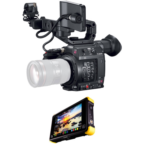 Canon C200 PL Mount with EVF, Accessories, and Shogun Flame Kit