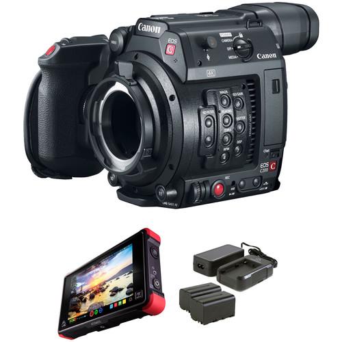 Canon EOS C200 PL with Atomos Ninja Flame Kit