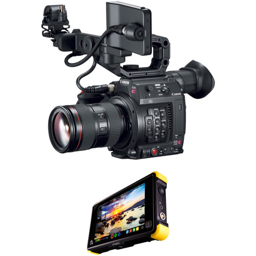 Canon C200 EF with EVF, Accessories, 24-105mm Lens, and Shogun Flame Kit