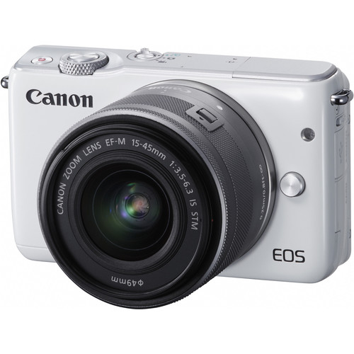 Canon EOS M10 Mirrorless Digital Camera with 15-45mm Lens Deluxe Kit (White)