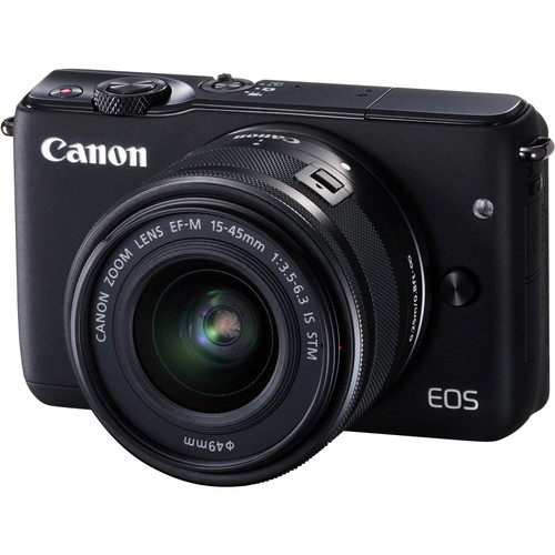 Canon EOS M10 Mirrorless Digital Camera with 15-45mm Lens Deluxe Kit (Black)