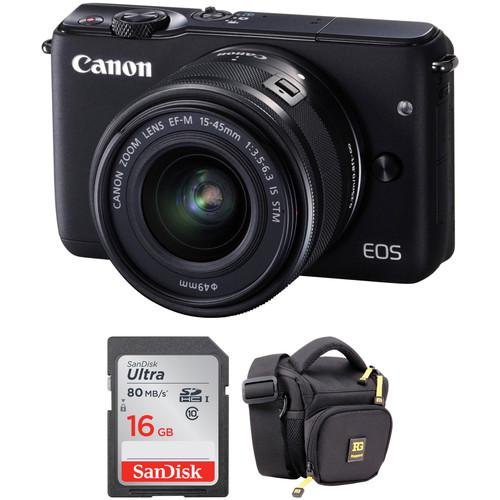 Canon EOS M10 Mirrorless Digital Camera with 15-45mm Lens Basic Kit (Black)