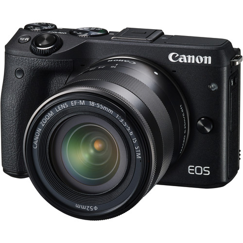 Canon EOS M3 Mirrorless Digital Camera with 18-55mm Lens and Electronic Viewfinder Kit (Black)